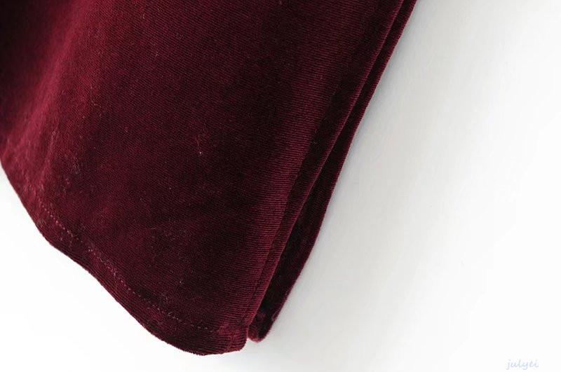 全3COLOR 秋欧米風 ベルベットキャミワンピース スリット入り おとな  着やせ 秋冬  ブラック、ワインレッド、グリーン