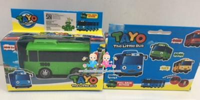 Mainan Anak Mobil Tayo Sliding Pullback Kecil - ROGI Hijau