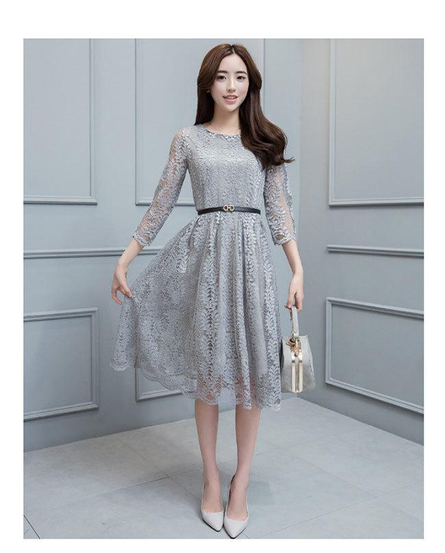 ワンピース レース レディースドレス 透かし彫り レディーススカート 韓国ファッション 気質修身  オシャレ 高級でセクシーなドレス 刺繍フォーマルドレス パーティードレス 高品質 大きいサイズ