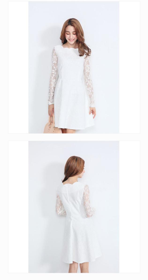 【送料無料】【YOCO】透かし彫りスリーブレースワンピ-5019368【ロングセラー 結婚式 二次会 パーティードレス 着回し ドレス