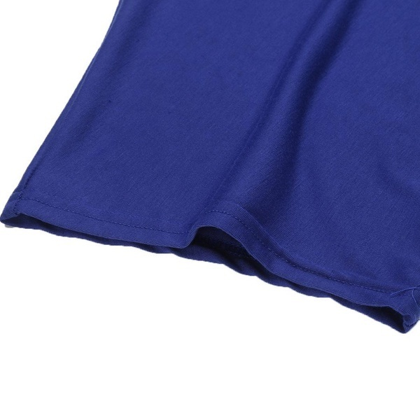 SW女性のO  - ネックコールドショルダー半袖花柄のレーストップパッチワークルーズTシャツ