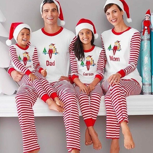 子供のアダルトファミリーマッチクリスマスパジャマパジャマナイトウェアパジャマ