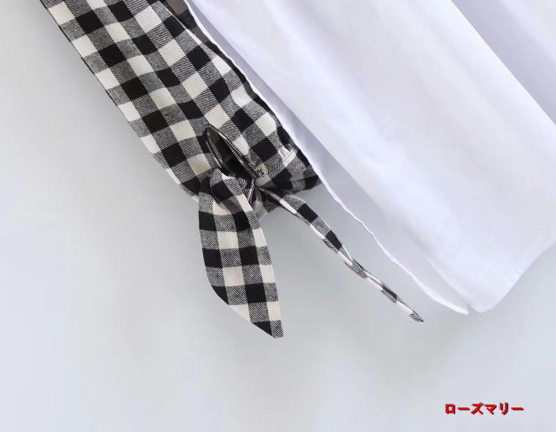 【ローズマリー】2017秋冬新型欧米風ファッション女装格子切り替えワンピース丸首着やせ下地スカート短いスカート 長袖ワンピース チェック柄  ベーシック 大人気-QQ4230