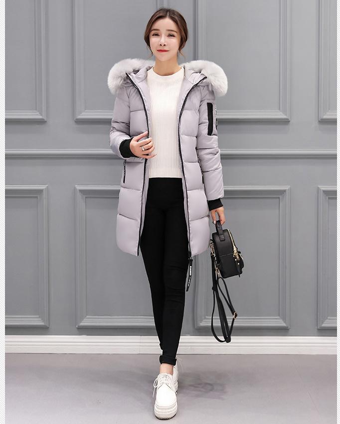 ★大特価★ 高品質/ラインが暖かいダウンコート韓国ファッション レディース  美ライン立体ステッチで着痩せ/ファーコート レディース防寒対策 可愛い アウター がパーカー