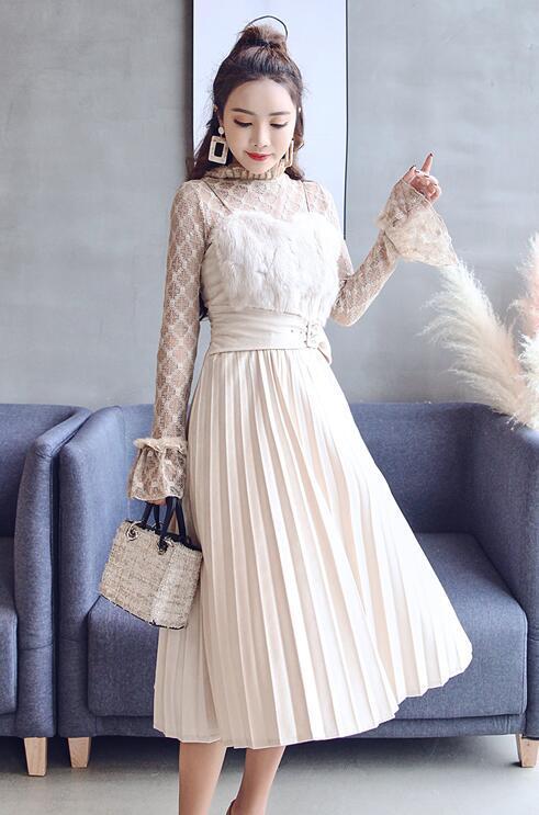 [55555SHOP]韓国ファッション♥OL、正式な場合、礼装ドレス♥セクシーなワンピース
