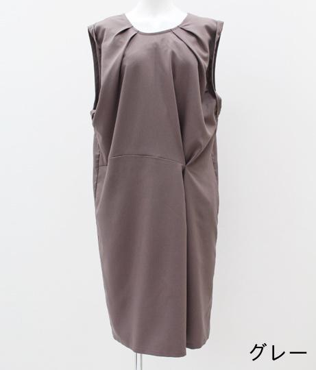 アシンメトリーワンタックドレス