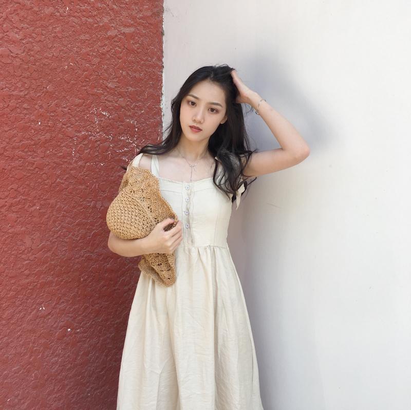 ワンピース フレアスカート ミモレ丈 ナチュラル 夏 サマー 3色 ストレッチ スカート ワンピ ロングワンピ 涼しげ(80-119)※納期に10日から14日ほどかかります。
