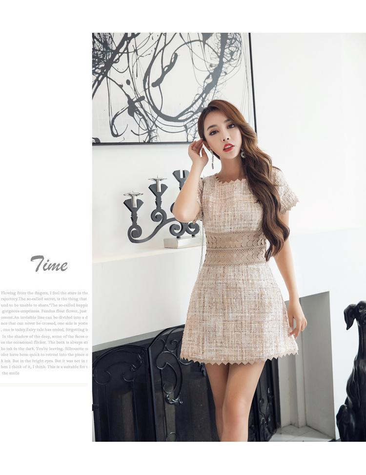 [55555SHOP]韓国ファッション ワンピース 半袖ワンピース  ラシャ パーティードレス  ワンピース パーティー ドレス ワンピ ミニドレス ショートドレス 結婚式 二次会 2次会 お呼ばれ