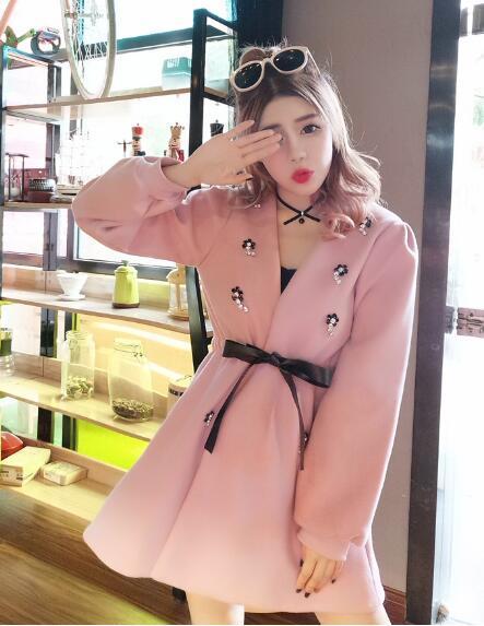 [55555SHOP]★韓国ファッション★女性ファッション★、スリムにボディラインを支えてくれるニット・ワンピース★デートファッション★