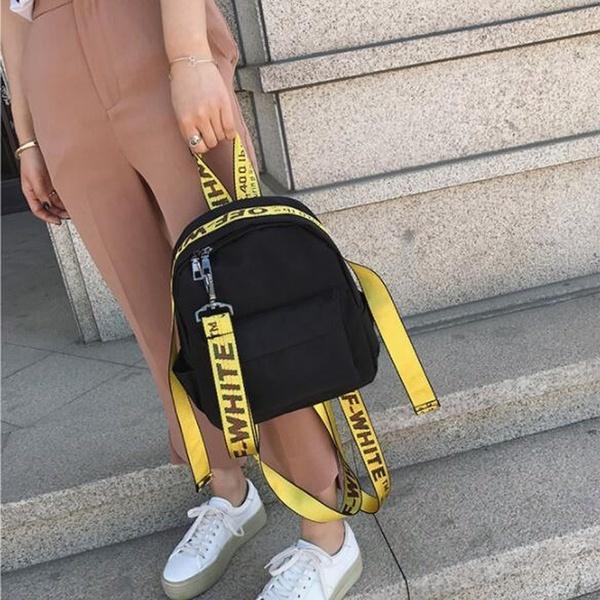 女性ファッションマルチカラーショルダーストラップキャンバスバックパックカジュアルトラベルリュックサックGのための小さなバックパック