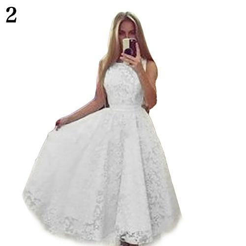 セクシーなレディースレース不規則な裾のイブニングパーティープロムカクテル結婚式の長いマキシドレス