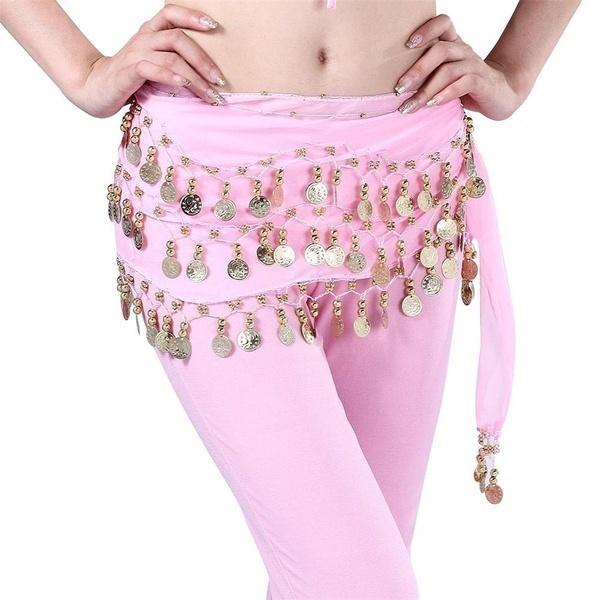 セクシーなファッション女性ベリーダンスダンス3列ヒップスカートスカーフラップベルトヒップスカート