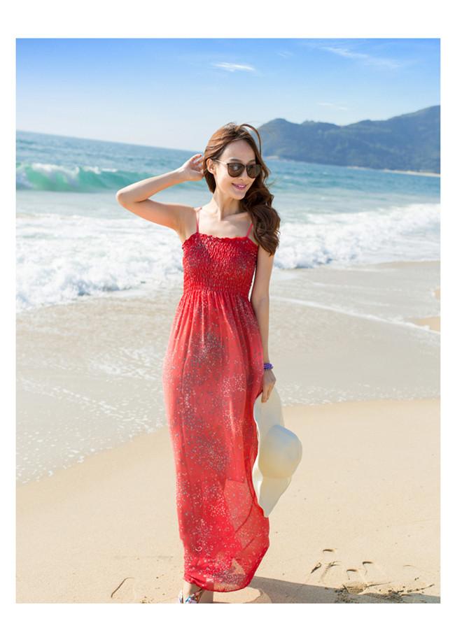 マキシワンピース ワンピース ノースリーブ ロング 体型カバー♪ 日焼け止め対策♪ 花柄 ロング ビーチスカート ボヘミアロングワンピース マキシ丈 ドレス ビキニ 水着 スカート 夏旅行お揃い 無袖 レディース パーティー リゾートワンピース 砂浜のスカート夏おすすめ!デード、お出かけ、旅行、どんな場合でもビッタリです♪
