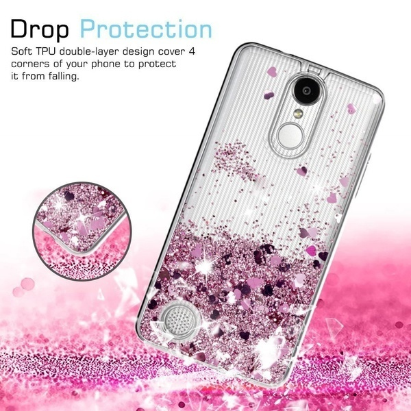NEWレディー&かわいいファッションローズゴールドモーション液体クイックサンドキラキラ柔軟なゴムTPU携帯電話C