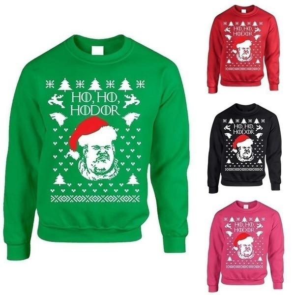 2017アダルトクルーネックスウェットシャツホーホードルアグリークリスマスセーター