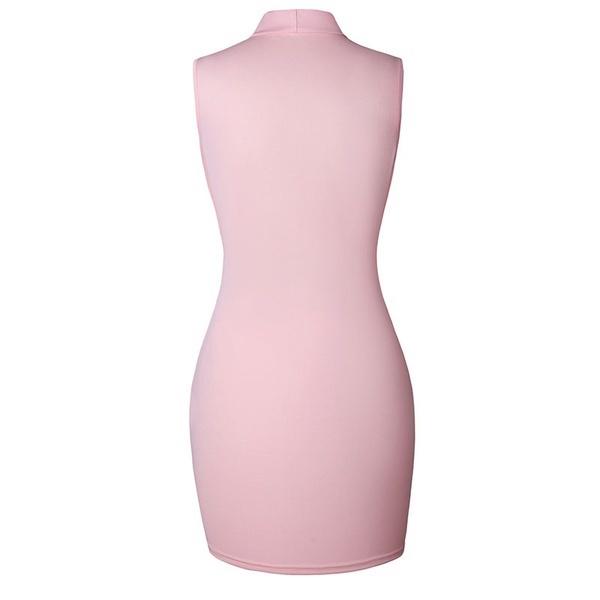 1本の新しいファッションVネックセクシーなスリムドレスパッケージヒップドレス包帯Bodycon女性のドレスナイトクラブのパート