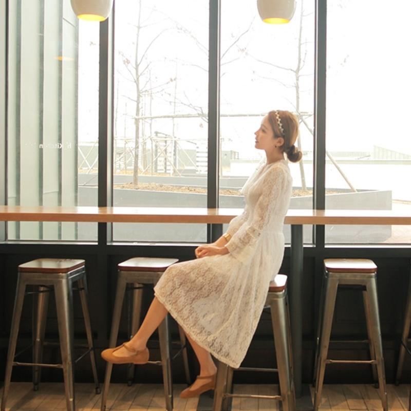 無料配送[CHERRYVILLE]★韓国ファッション★女性ファッション★女性らしいレースのワンピース★デートファッション★推薦デーリー・ウェア