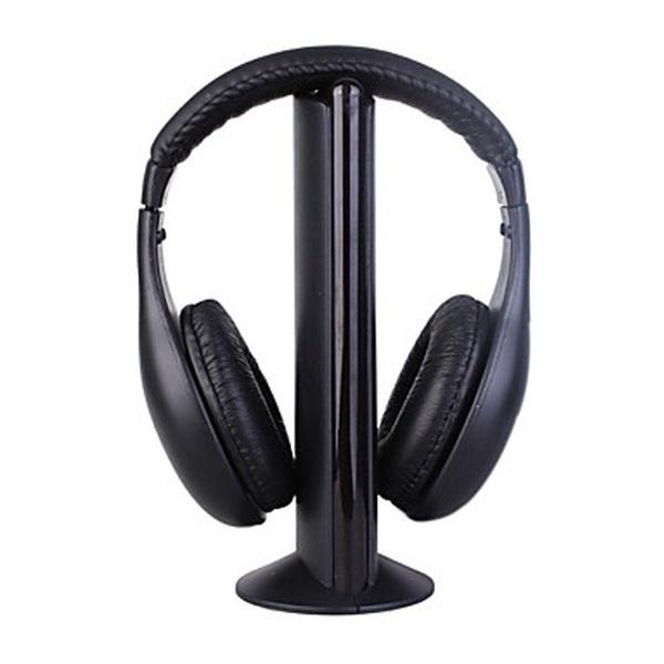 テレビ用の新しいHi-FiワイヤレスヘッドセットヘッドフォンイヤホンDVD DVD MP3 PCブラック