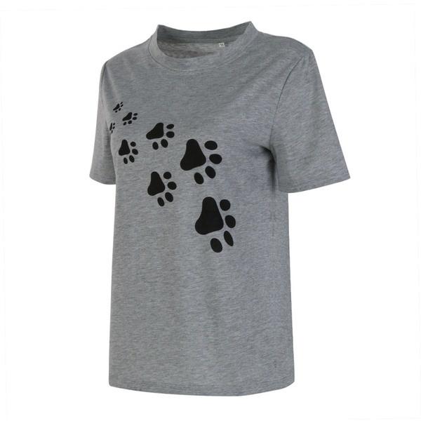 女性のためのコットンカジュアルファニーTシャツ