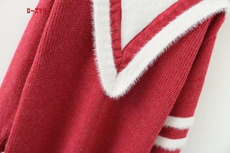 【ローズマリー】ハイネックセーターミンク絨のワンピース 長袖ニットワンピース 高品質  メリヤス 可愛い かわいい -R136
