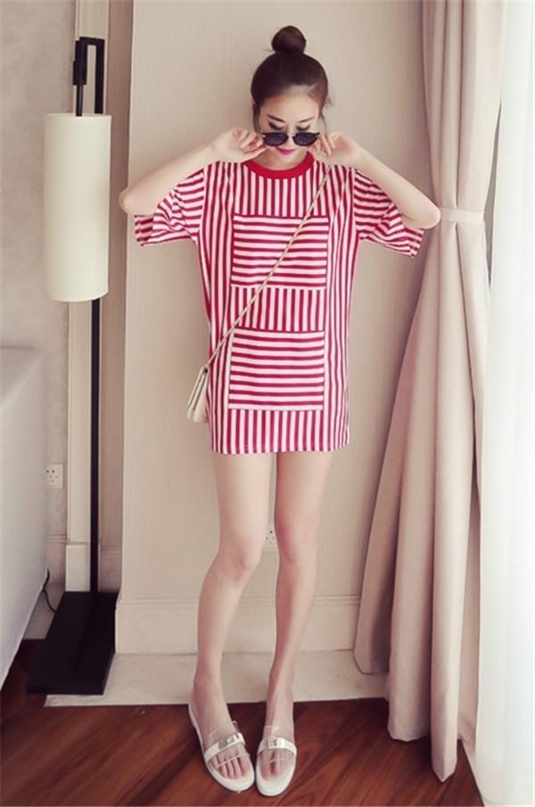 レディースワンピース 韓国無地 スリム 韓国のファッション  縦ストライプワンピース    プリントワンピース 上品 ロングスカート ハイセンス 着心地いい おしゃれ 夏 スリム セール★ レディースワンピース