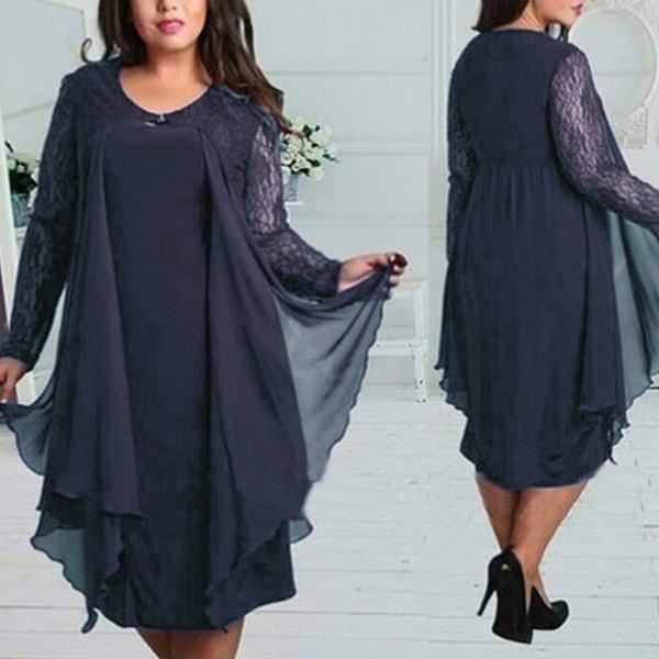 ファッションルーズひざポリエステル平地ニットジッパー女性のセータードレス