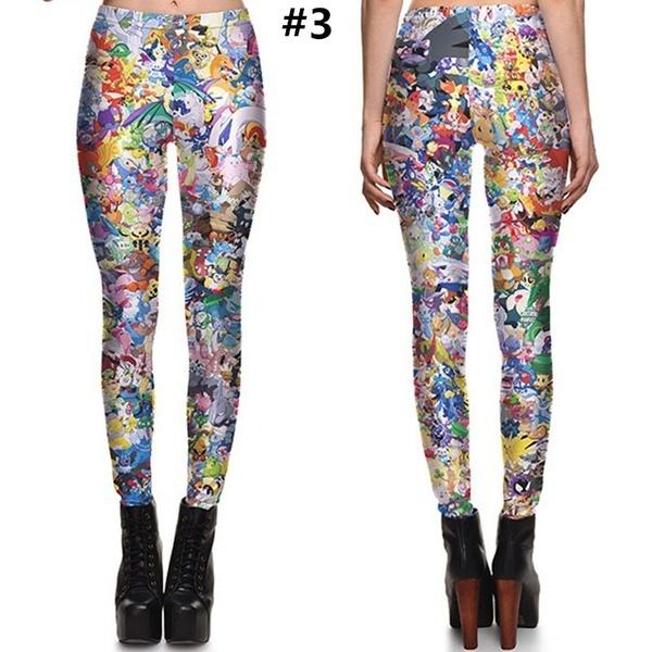 新しいスリムセクシーな女性プリントレギンス弾性ファッションミルクシルクガールズパンツプラスサイズS  -  4XL