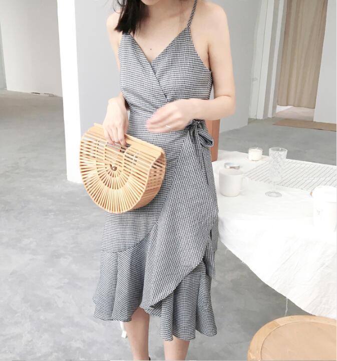 韓国ファッション レディース セクシー ワンピース キャミ・ベアワンピ  着痩せ パーティー ドレス