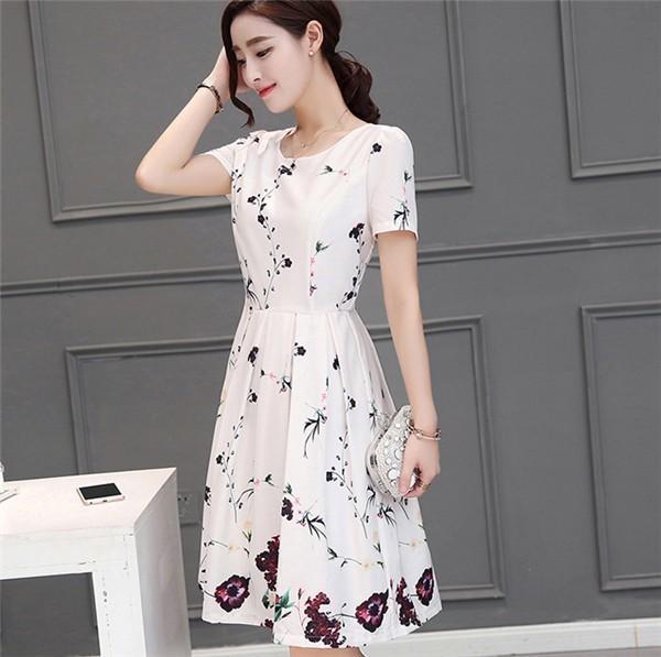 レディースワンピース 韓国無地 スリム 韓国のファッション  シフォンワンピース ロングスカート  ハイウエストワンピース  プリントワンピース  ハイセンス 着心地いい おしゃれ 夏 スリム セール