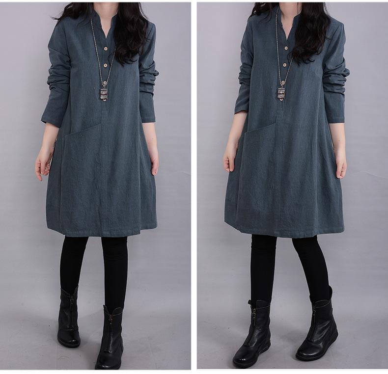 ★韓国ファッション 超人気★薄いワンピース レディース /文芸女装ゆったりコード麻綿ワンピース クールフェミニンな装いがこの1着でたちまち叶う!新鮮デザインのワンピースは、感触のソフト素材