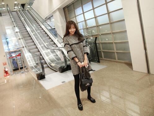 ワンピース ニットワンピース チェックワンピース 配色ワンピース シンプルワンピース 冬ワンピース 卒業式 入学式 韓国ファッション