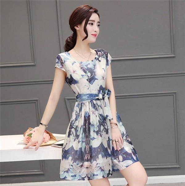 レディースワンピース 韓国無地 スリム 韓国のファッション  半袖ワンピース 上品 ロングスカート  ハイウエストワンピース  プリントワンピース  ハイセンス 着心地いい おしゃれ 夏 スリム セール★ レディースワンピース