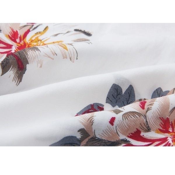 新しい女性のファッションセクシーなトップオフショルダー花のプリントストラップレスシャツ