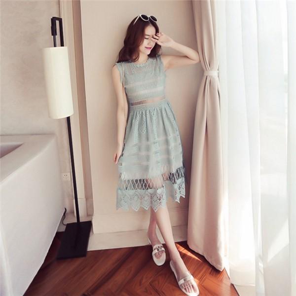 レディースワンピース 韓国無地 スリム 韓国のファッション  ノースリーブワンピース  プリントワンピース 上品 ロングスカート ハイセンス 着心地いい おしゃれ 夏 スリム セール★ レディースワンピース