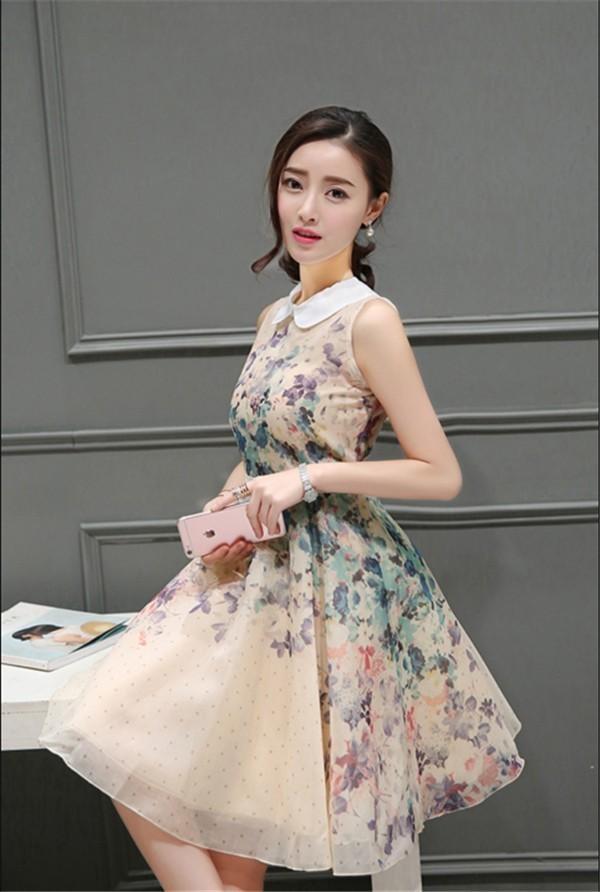 レディースワンピース 韓国無地 スリム 韓国のファッション 開襟ボンボンスカート ロングスカート  ハイウエストワンピース  プリントワンピース  ハイセンス 着心地いい おしゃれ 夏 スリム セール