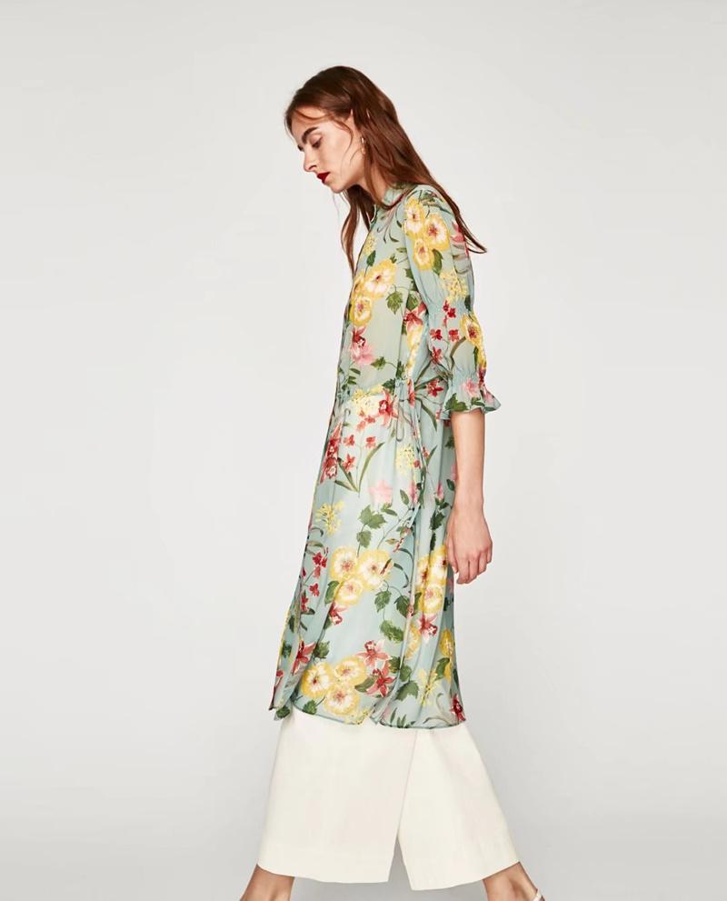 レディース ワンピース 新作 花柄 ミドル シャツ UVカット 接触冷感 カーディガン ドレス