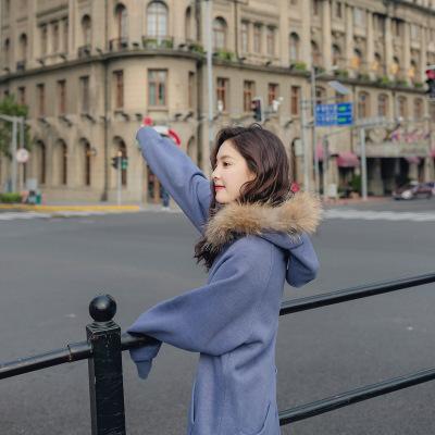 レディース 取り外し可能なリアルファー パーカー ロング丈 フード付き 綺麗め 上品 ゆったり おとな かわいい 韓國ファッション