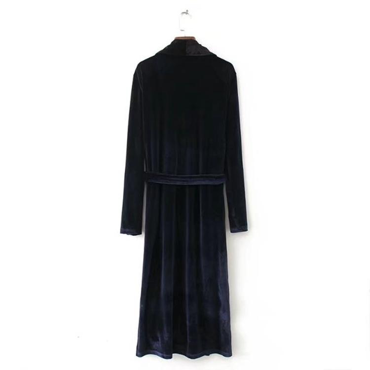 2017秋冬冬、欧米ではファッションコートスカートに長いビロードワンピース