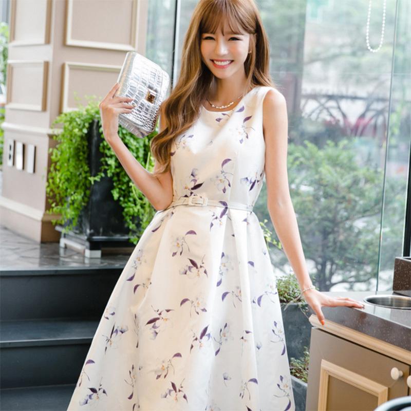 ワンピース フレアワンピース ドレス 結婚式 ミディアム丈 体型カバー フレアドレス 春夏 ワンピース パーティードレス フォーマル カジュアル 痩せる効果 大きいサイズ  フラワー ホワイト グリー