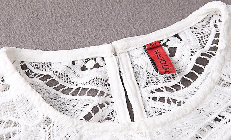レースワンピースエレガントな可愛いレースワンピース!【送料無料】★レースワンピース 透け感あり ノースリブワンピース XS~XXL 女子力UP  [jfx214] (予約商品)