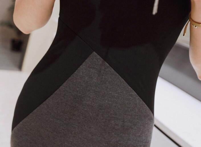 E-117-1【送料無料】レディース【S-XL】 着痩せワンピース エレガンス  ワンピ ドレス タイト ミディアム丈 ミドル丈 パーティー ドレス 結婚式 二次会 2次会 通勤 ノースリーブワンピ