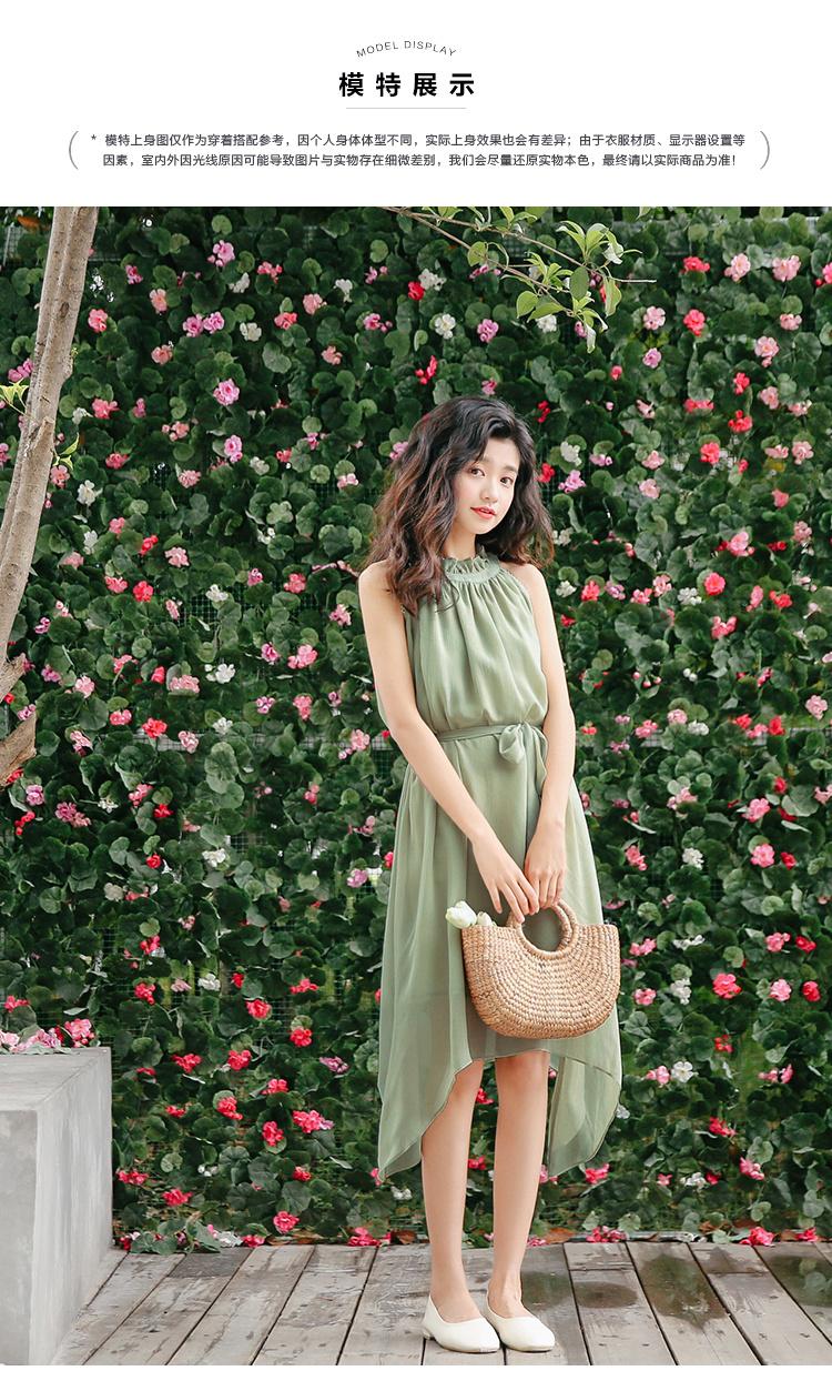 [55555SHOP]韓国2017年のウエストストラップストライプノースリーブのドレス//韓国 ファッション ワンピース/Tシャツ/シャツ