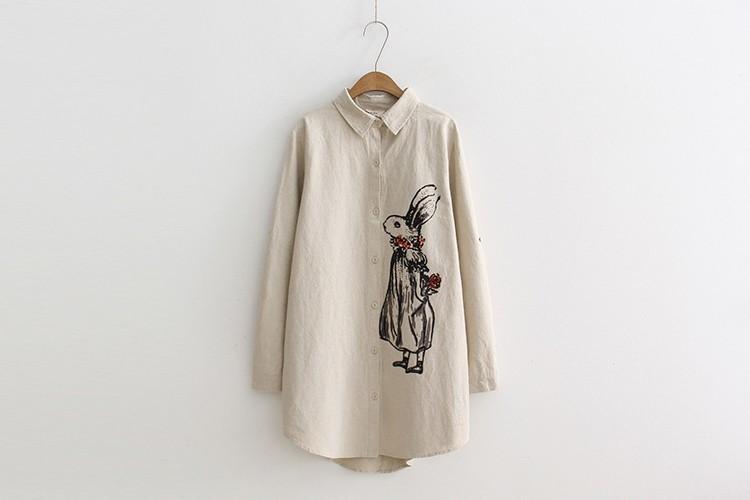 送料無料 2017新作 レディース シャツワンピース 綿麻 ロングシャツ 長袖 ブラウス 襟付き オーバーブラウス トップス