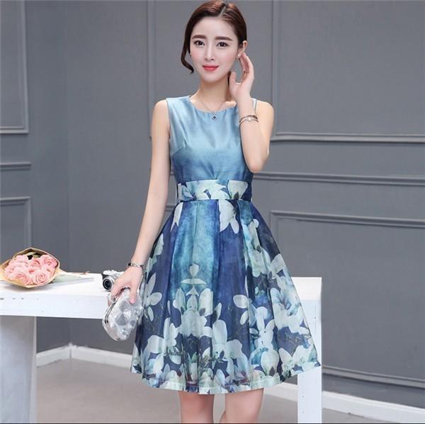 レディースワンピース 韓国無地 スリム 韓国のファッション  ノースリーブワンピース ロングスカート  ハイウエストワンピース  プリントワンピース  ハイセンス 着心地いい おしゃれ 夏 スリム セ