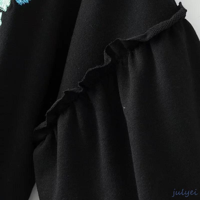 欧米風 レディース 秋新品 花柄刺繍 ワンピース 花柄刺繍 ボリュームスリーブ 着やせ ゆったり 半袖 可愛い トレンド