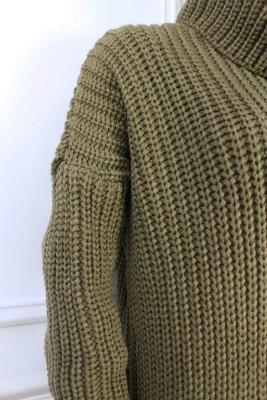 サイドスリット ざっくりニットスーパーロング ローゲージニット セーター