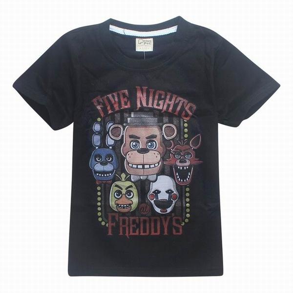 子供のためのフレディの女の子ボーイズTシャツの新しい5つの夜ティーンエイジャーショーツ夏