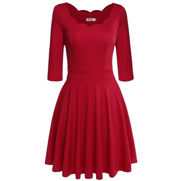 Meaneor新しいスタイリッシュな女性レースネックプリーツドレスミディアムスリーブハイウエストソリッドスリムパーティーニードレス