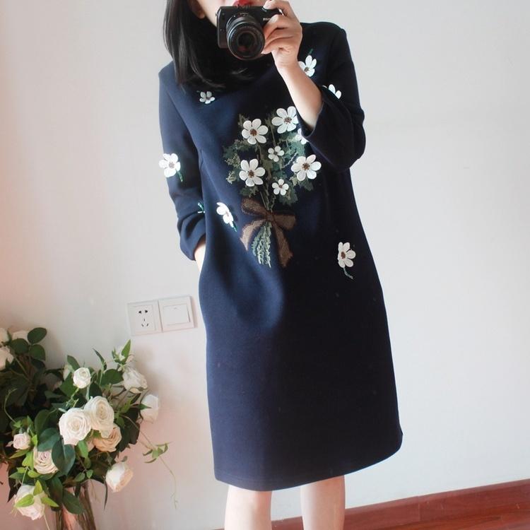 大特価 ★韓国ファッション  新作  花柄 ワンピース デザイン シャツをプラスするデブ  レディース   ワンピース 花柄  美シルエット ミドル丈 大人可愛い オフィスカジュアル