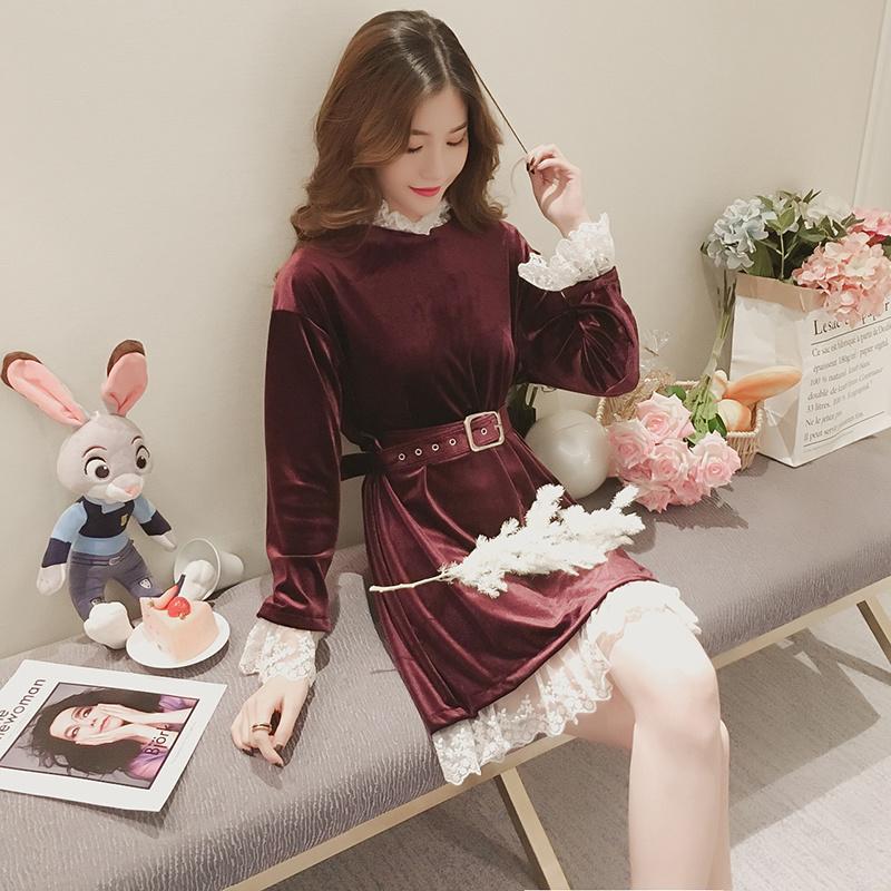 【RH404】新品秋服♫ワンピース♫韓国ファッションシフォンシャツ♫つりスカート♫Tシャツ♫セクシーなワンピース♫学院のスタイル♫韓国風スカート♫レーススカート♫ハイウエストスカート♫キャンペ